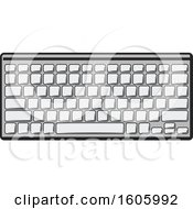 Clipart Of A Computer Keyboard Royalty Free Vector Illustration