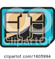 Clipart Of A Chip Royalty Free Vector Illustration