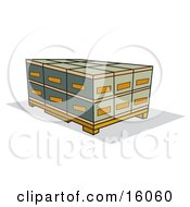 Shipping Pallet Clipart Illustration