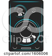 Clipart Of A Computer Speaker Royalty Free Vector Illustration