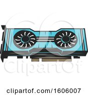 Clipart Of A Computer Fan Royalty Free Vector Illustration