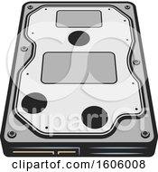 Clipart Of A Computer Hard Drive Royalty Free Vector Illustration
