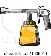 Clipart Of A Car Paint Nozzle Royalty Free Vector Illustration