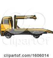 Clipart Of A Tow Truck Royalty Free Vector Illustration