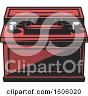 Clipart Of A Car Battery Royalty Free Vector Illustration
