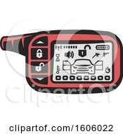 Clipart Of A Car Alarm Royalty Free Vector Illustration