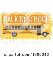 Clipart Of A Back To School Design With A Bus Royalty Free Vector Illustration by Vector Tradition SM