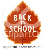 Clipart Of A Back To School Design With An Autumn Leaf Royalty Free Vector Illustration by Vector Tradition SM