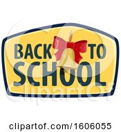Clipart Of A Back To School Design With A Bell Royalty Free Vector Illustration by Vector Tradition SM