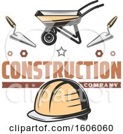 Clipart Of A Construction Company Design Royalty Free Vector Illustration