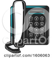 Clipart Of A Desk Telephone Royalty Free Vector Illustration