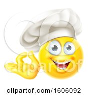 Poster, Art Print Of Happy Yellow Emoji Chef Gesturing Perfect Or Ok
