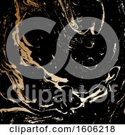 Clipart Of A Black And Gold Background Royalty Free Vector Illustration