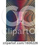 Clipart Of A Background Of Colorful Lines Forming A Tunnel On Black Royalty Free Vector Illustration