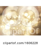 Clipart Of A Gold Flare Background Royalty Free Vector Illustration