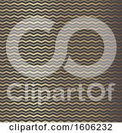 Clipart Of A Golden Zig Zag Chevron Pattern Royalty Free Vector Illustration