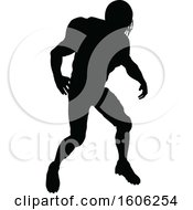 Poster, Art Print Of Silhouetted Football Player