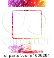 Colorful Grunge Background With A Frame