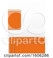 White And Orange Background