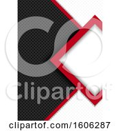 Clipart Of A Red White And Black Perforated Metal Background Royalty Free Vector Illustration