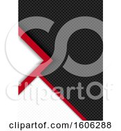 Red White And Black Perforated Metal Background