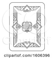 Clipart Of A Black And White Playing Card Royalty Free Vector Illustration by AtStockIllustration