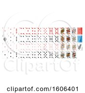 Clipart Of A Deck Set Of Playing Cards Royalty Free Vector Illustration by AtStockIllustration
