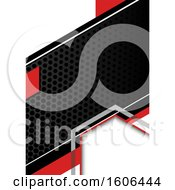 Clipart Of A Perforated Metal Background Royalty Free Vector Illustration