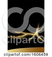 Black And Gold Lightning Background