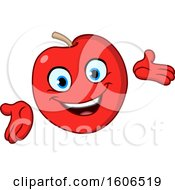 Clipart Of A Cartoon Friendly Red Apple Mascot Royalty Free Vector Illustration