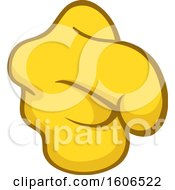 Clipart Of A Cartoon Pointing Yellow Emoji Hand Royalty Free Vector Illustration