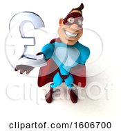 3d Buff White Male Yellow And Blue Super Hero Holding A Lira Symbol On A White Background