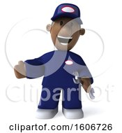 Clipart Of A 3d Black Male Mechanic On A White Background Royalty Free Illustration by Julos