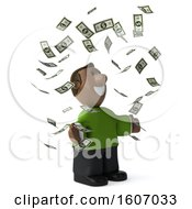 Clipart Of A 3d Casual Black Man Holding A  On A White Background Royalty Free Illustration