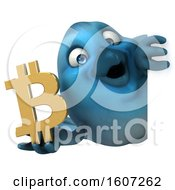 September 17th, 2018: Clipart Of A 3d Blue Bird Holding A Bitcoin Symbol On A White Background Royalty Free Illustration by Julos