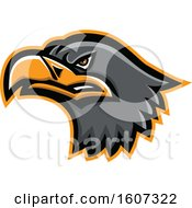 Clipart Of A Eurasian Sea Eagle Mascot Head Royalty Free Vector Illustration by patrimonio