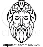 Lineart Styled Head Of Zeus