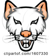 Clipart Of A Vicious White Rat Mascot Royalty Free Vector Illustration