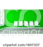 Clipart Of A 3d Lobby Interior Royalty Free Illustration