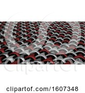 Clipart Of A 3D Geometric Weave Abstract Royalty Free Illustration