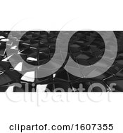 Clipart Of A 3d Hexagonal Background Royalty Free Illustration