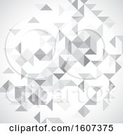 Clipart Of A Grayscale Geometric Background Royalty Free Vector Illustration
