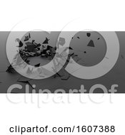 Clipart Of A 3d Abstract Shattered Background Royalty Free Illustration