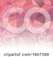 Clipart Of A Pink Halftone And Geometric Background Royalty Free Vector Illustration