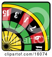 Roulette Wheel Clipart Illustration by Andy Nortnik