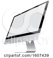 Clipart Of A 3d Computer Screen Royalty Free Vector Illustration
