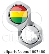 Clipart Of A Bolivian Flag Button And Map Royalty Free Vector Illustration by Lal Perera