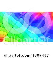 Clipart Of A 3d Rainbow Colorful Layer Background Royalty Free Illustration