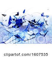 Clipart Of A 3D Render Of A Cracked Background With Low Poly Design Royalty Free Illustration