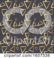 Golden Triangle Pattern Background On Gray